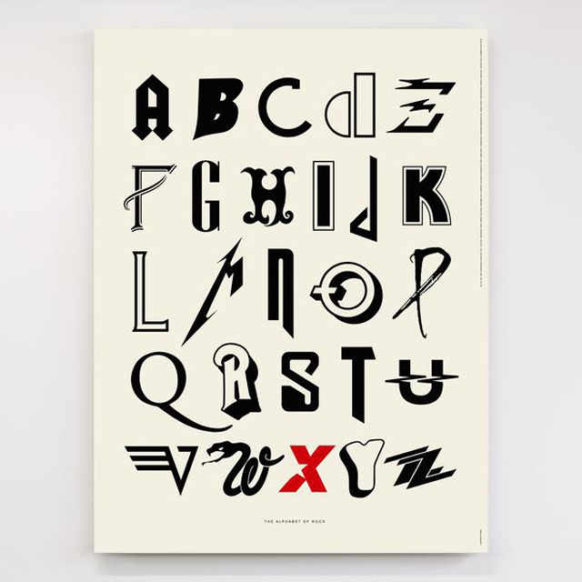 Alphabet of Rock - Original Open Edition