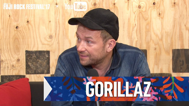 Damon Albarn / GORILLAZ FRF'17 DAY1 INTERVIEW