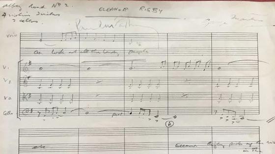 The Beatles - Eleanor Rigby - original score