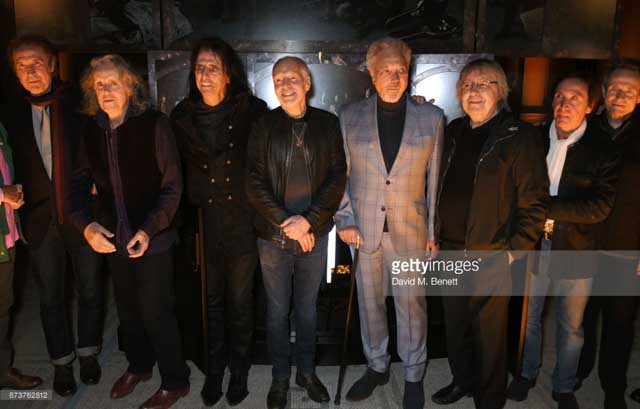 Ray Davies, Donovan, Alice Cooper, Peter Frampton, Tom Jones, Bill Wyman, Kenney Jones and John Paul Jones at the Adoration Trilogy launch - Photo by Getty Images Entertainment