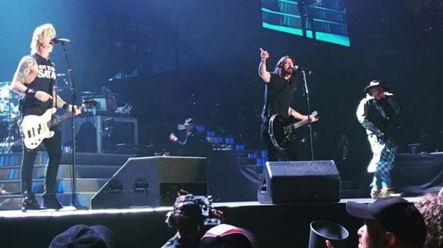 Guns N' Roses with Dave Grohl
