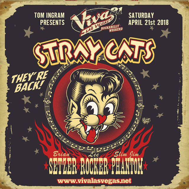 Stray Cats - Viva Las Vegas Rockabilly Weekend 2018