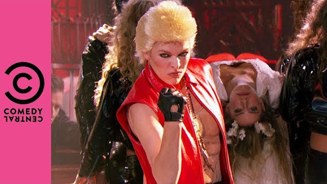 Milla Jovovich Performs Billy Idol's
