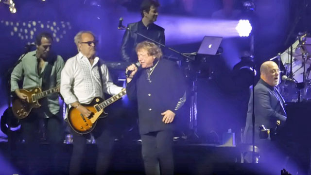 Billy Joel with Lou Gramm & Mick Jones(Foreigner)
