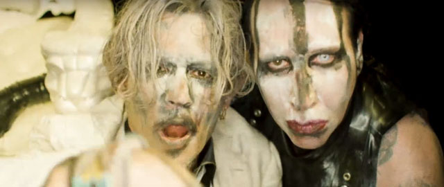 Marilyn Manson and Johnny Depp