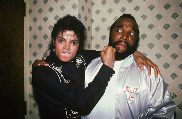 Michael Jackson with Mr. T
