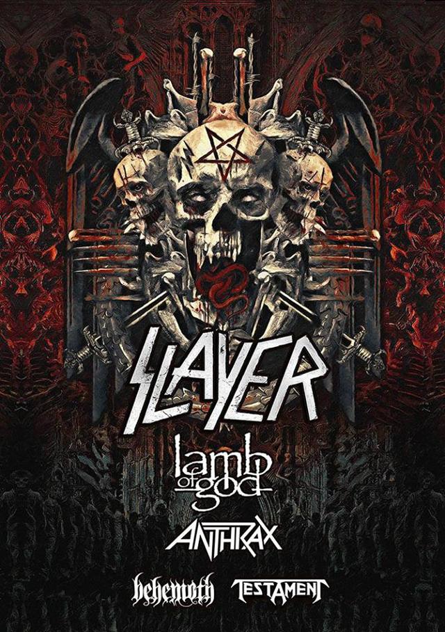 Slayer, Lamb of God, Anthrax, Behemoth and Testament