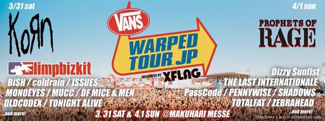 Vans Warped Tour Japan 2018 presented by XFLAG
