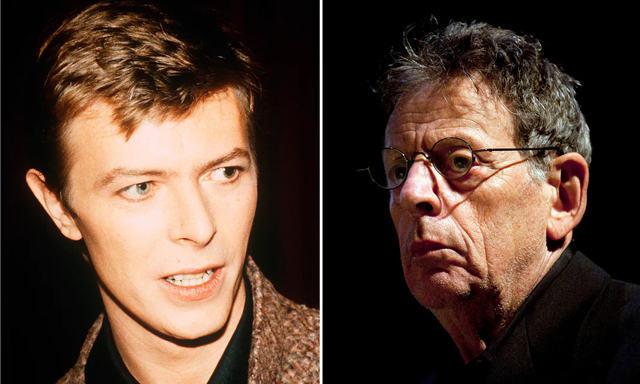 Philip Glass and David Bowie