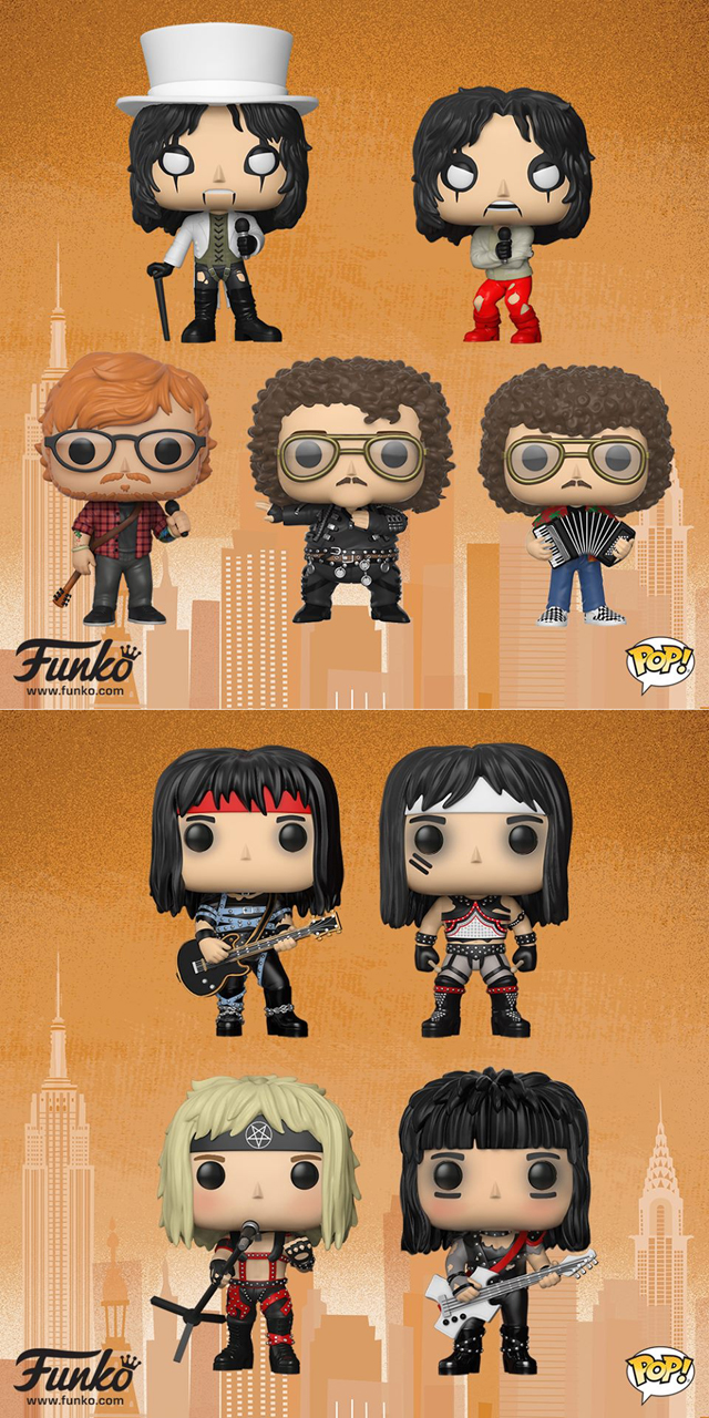 "FUNKO Pop! Rocks - Ed Sheeran, ""Weird Al"" Yankovic,  Alice Cooper,  Motley Crue"