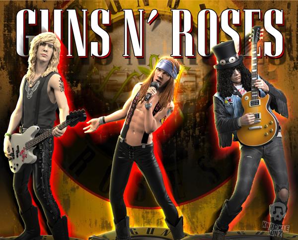 Guns N' Roses - KnuckleBonz Rock Iconz statue