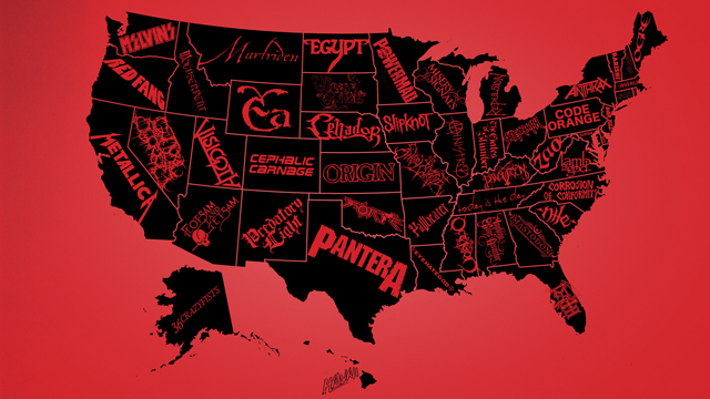 Best metal band in each US state according to Kerrang
