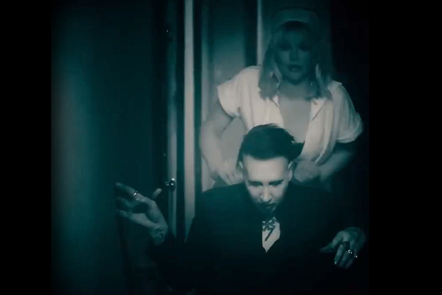 Marilyn Manson and Courtney Love Tease / Tattooed in Reverse Video