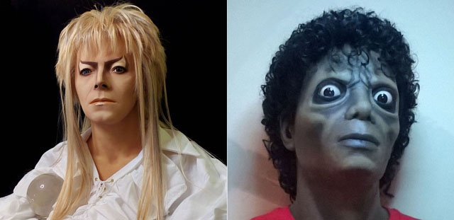 1:1 Lifesize Jareth Labyrinth David Bowie Bust Goblin King Figure Statue Prop / Michael Jackson Thriller Busto Figura Zombie 1:1 Lifesize Tamano real 1983 videoclip