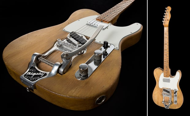 The 1965 Fender Telecaster Bob Dylan used during his first electric tour - Julien's Auctions