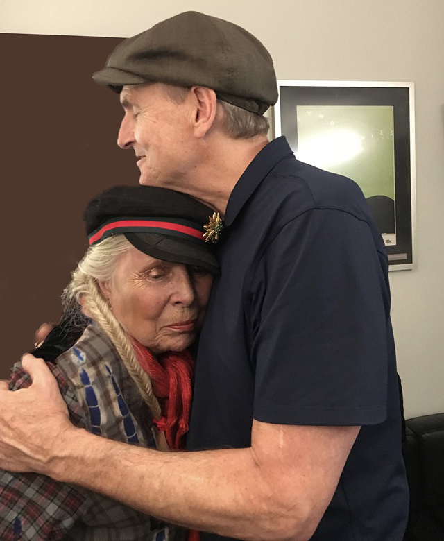 James Taylor and Joni Mitchell - Photo by Marcy Gensic