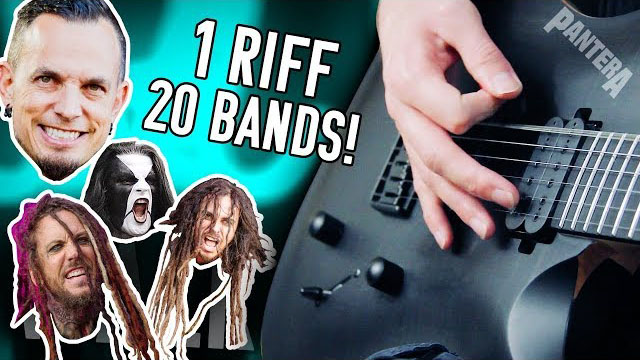 1 Riff 20 Bands - Walk! | Pete Cottrell