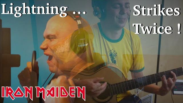 Lightning Strikes Twice (IRON MAIDEN) Acoustic - Thomas Zwijsen ft. Blaze Bayley