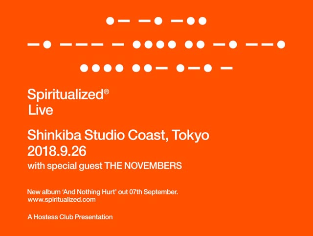 Hostess Club Presents... Spiritualized with special guest THE NOVEMBERS