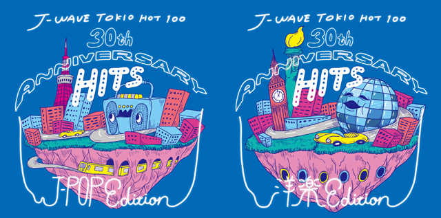 VA / J-WAVE TOKIO HOT 100 30th ANNIVERSARY HITS J-POP EDITION、J-WAVE TOKIO HOT 100 30th ANNIVERSARY HITS 洋楽EDITION