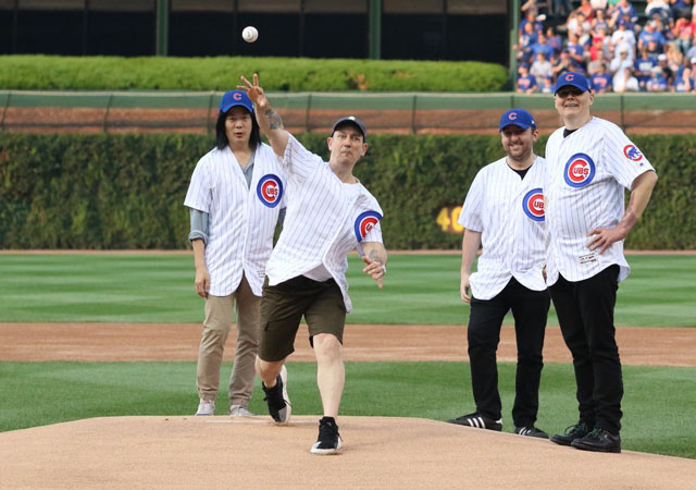 Smashing Pumpkins - First Pitch at Wrigley Field