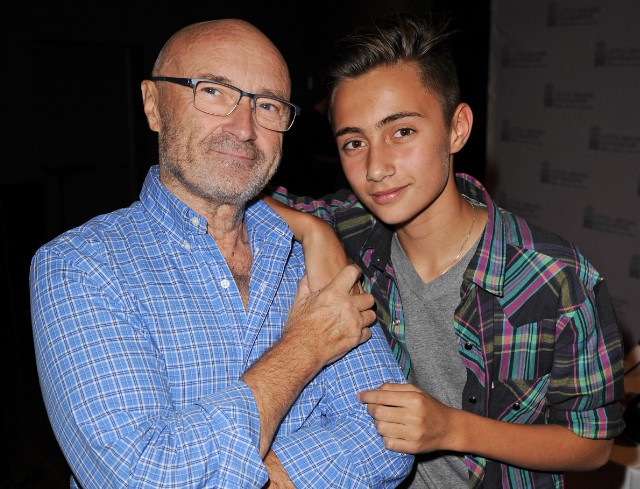 Phil Collins and Nicholas Collins - Photo by  Larry Marano/Getty Images