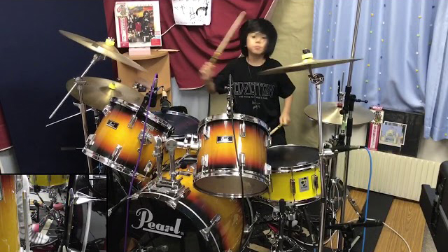 Led Zeppelin - Communication Breakdown/ Cover by Yoyoka Soma, 8 year old