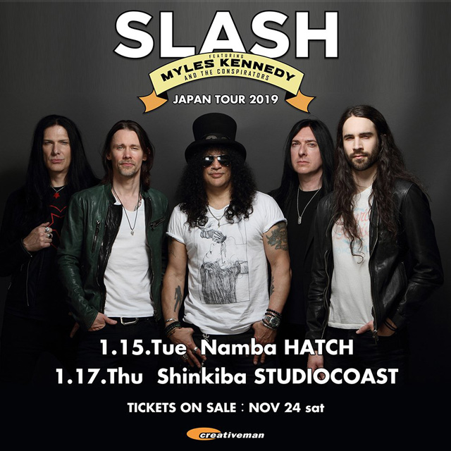 SLASH  Featuring MYLES KENNEDY AND THE CONSPIRATORS JAPAN TOUR 2019