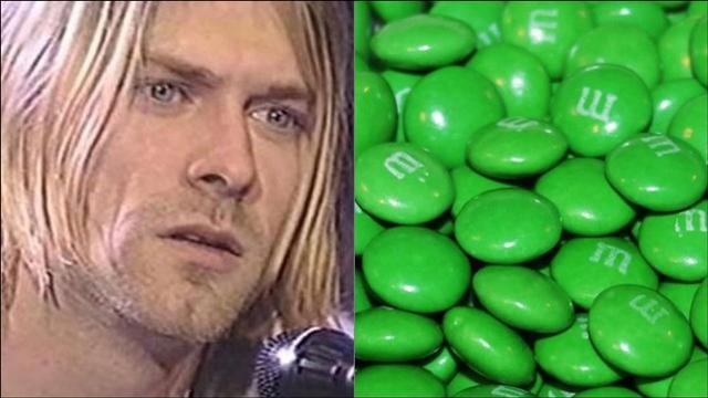 Kurt Cobain and M&M's