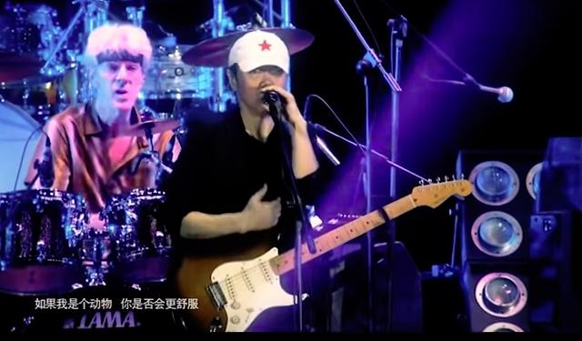 Cui Jian and Stewart Copeland