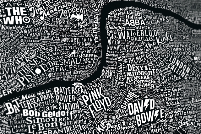 Run For The Hills「Music Map Of London」(c)Run For The Hills