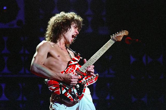 Eddie Van Halen's Frankenstein guitar - Photo by Mediapunch/REX Shutterstock