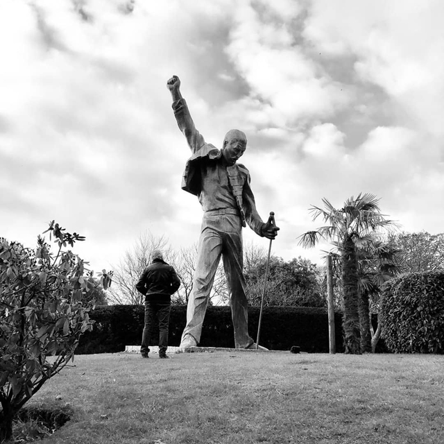 Roger Taylor and Freddie Mercury statue
