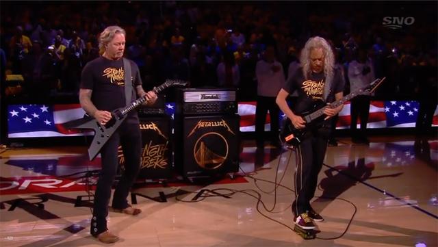 James Hetfield and Kirk Hammett