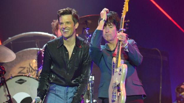 The Killers with Johnny Marr - GETTY IMAGES