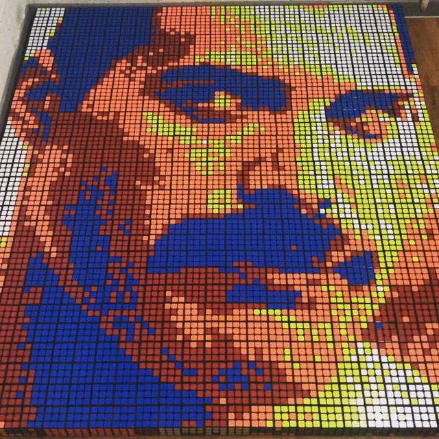 Freddie Mercury- 720 Rubik's cubes - Giovanni Contardi