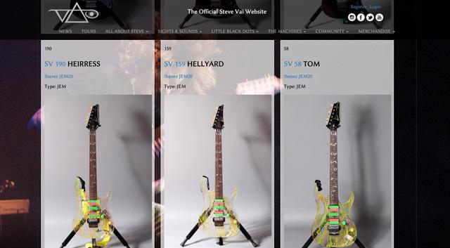 Steve Vai Guitar Library