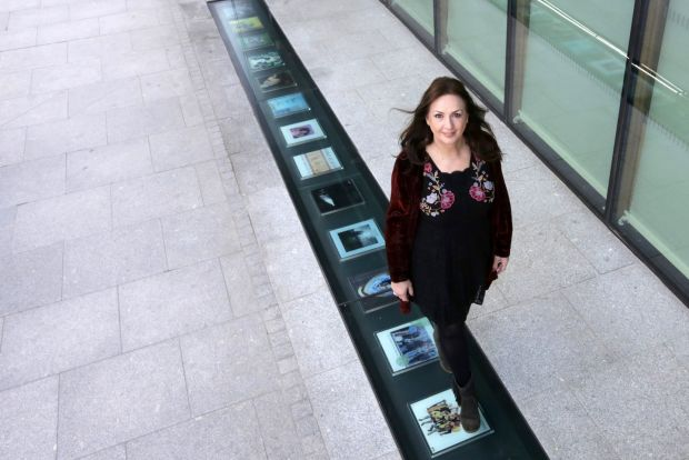 Vinyl walkway of famous albums unveiled at Windmill Lane in Dublin - Photograph: Laura Hutton/The Irish Times