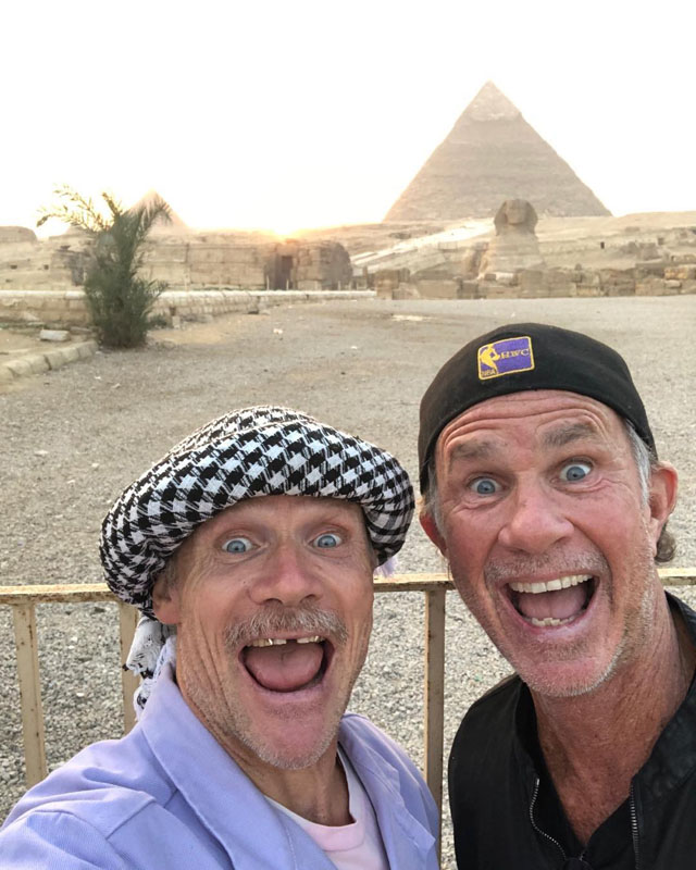 Flea and Chad Smith in the Pyramids of Egypt