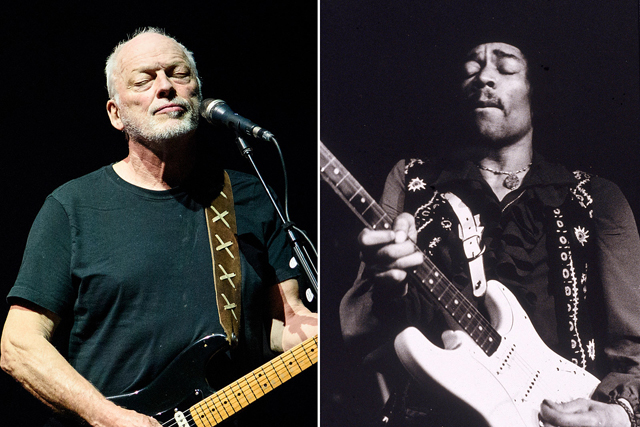 David Gilmour and Jimi Hendrix