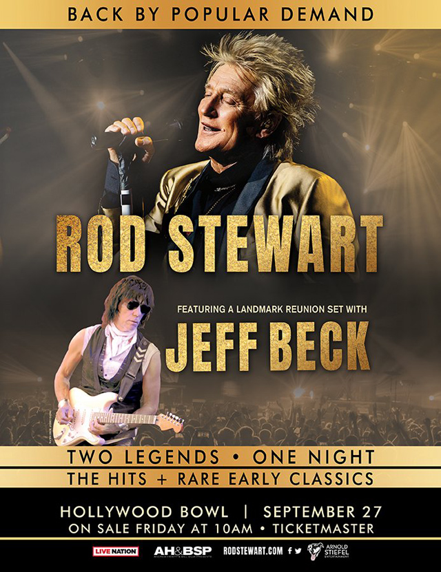 Rod Stewart, Jeff Beck to Reunite For Special Hollywood Bowl Concert