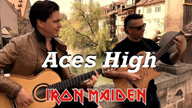 Aces High (IRON MAIDEN) Acoustic - Thomas Zwijsen & Ben Woods