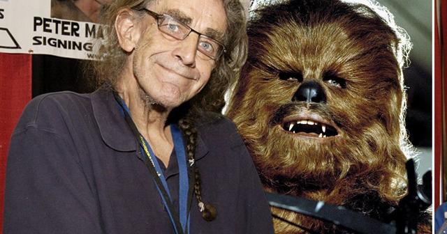 Peter Mayhew and Chewbacca