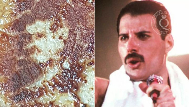 Man says Freddy Mercury (Queen) appeared on his pork chop