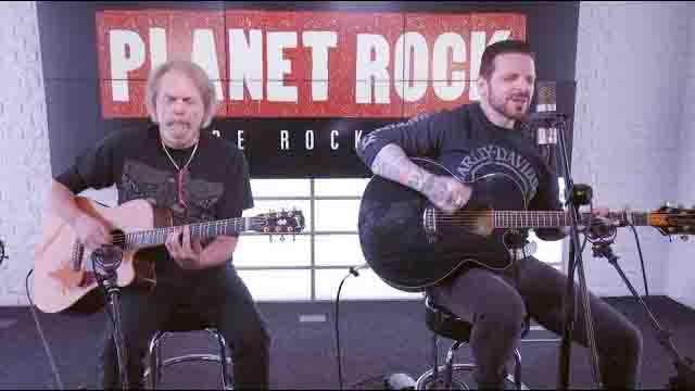 Scott Gorham and Ricky Warwick from Black Star Riders