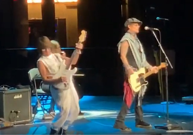 Jeff Beck with Johnny Depp