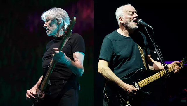 Roger Waters and David Gilmour