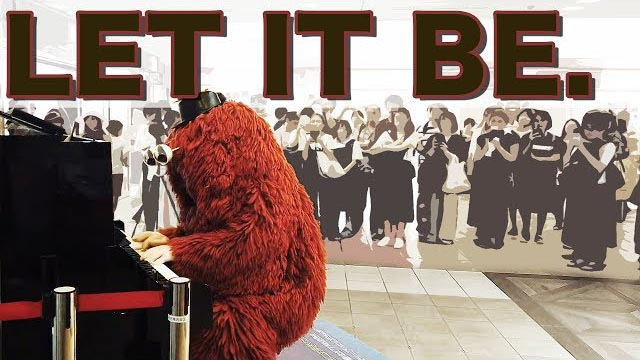 LET IT BE. by THE BEATLES ~street piano performance by Japanese character MUKKU ~