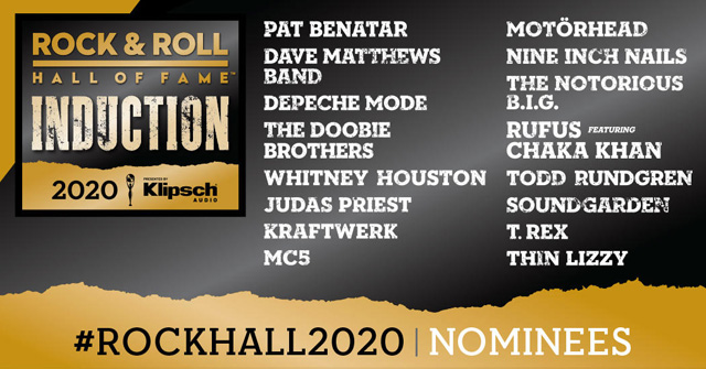 Rock & Roll Hall of Fame Reveals 2020 Nominees