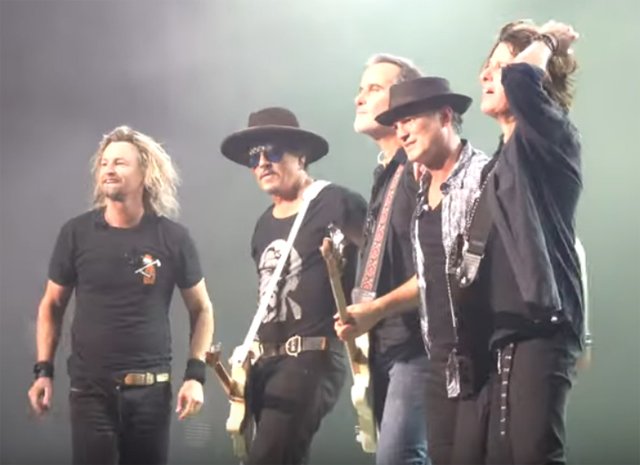 Stone Temple Pilots with Johnny Depp